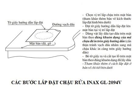 Chậu rửa âm bàn Inax GL-2094V