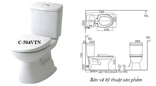 Mẫu Bồn cầu Inax 504: Phân loại, Giá thành, Cách lắp đặt đúng kỹ thuật