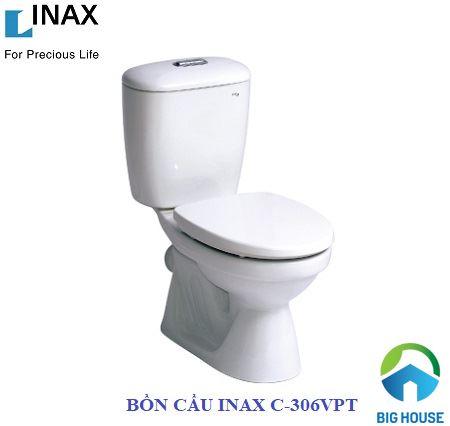 bồn cầu 2 khối Inax C-306VPT