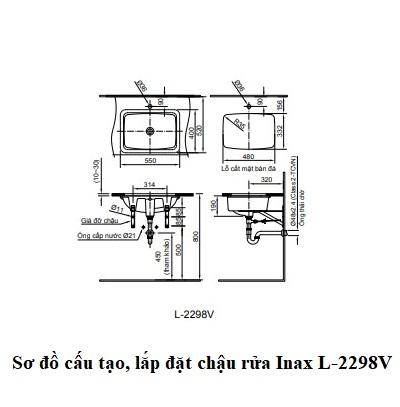 Chậu rửa âm bàn Inax L-2298V