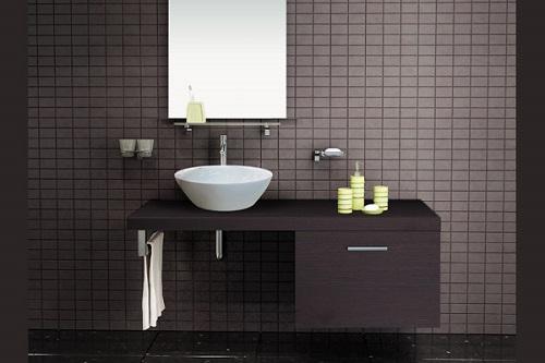 Chậu rửa Inax Cabinet CB1206-5QF-B màu gỗ đậm