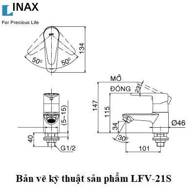 Vòi chậu Inax LFV-21S