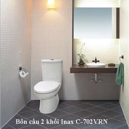 bồn cầu 2 khối Inax C-702VRN