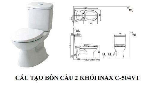 Bồn cầu 2 khối Inax C-504VT