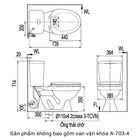 bồn cầu Inax C-108VTN