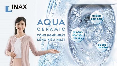 Aqua Ceramic – Công nghệ trắng sáng số 1 thế giới trên Bồn cầu Inax