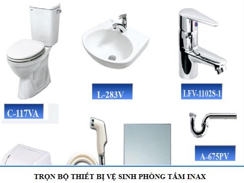 Trọn bộ Nội thất, Thiết bị vệ sinh phòng tắm Inax Chính Hãng – Giá Tốt