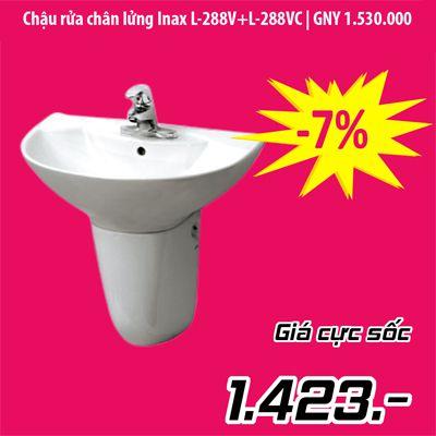 Chậu rửa treo tường Inax L-288V & L-288VC