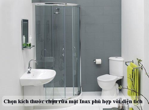Chọn kích thước chậu rửa Inax với diện tích nhà tắm: 2m2, 4m2, 6m2