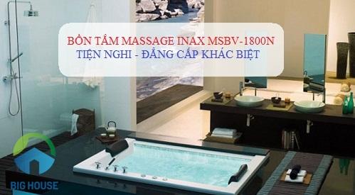 Bồn tắm massage Inax MSBV-11800N – Đẳng cấp của cuộc sống hiện đại