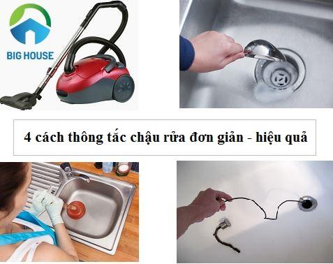 """Học ngay 4 cách thông tắc chậu rửa bát HIỆU QUẢ trong """"TÍCH TẮC"""""""