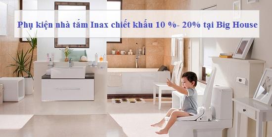 Báo giá Bộ phụ kiện nhà tắm Inax 6 Món: Kệ gương, Hộp giấy VS, Vắt khăn…
