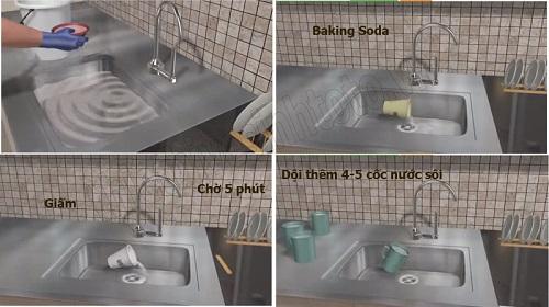 bột thông tắc bồn rửa bát
