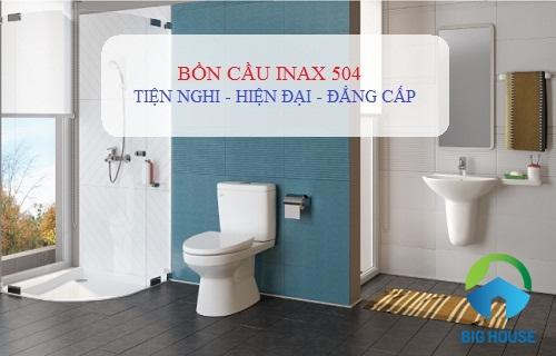 Bồn cầu Inax 504 nắp êm – Loại bệt 2 khối Giá rẻ, Đẹp nhất