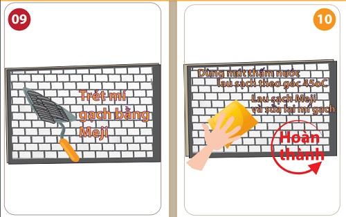 Cách thi công gạch Inax bằng vữa - Infographics