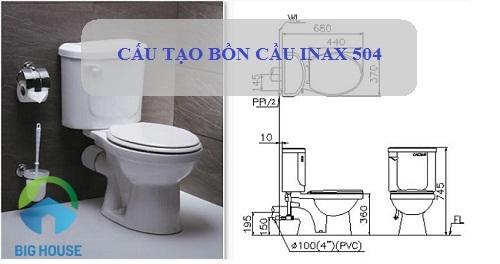 Cấu tạo bồn cầu Inax 504 và Các công nghệ hàng đầu được ứng dụng