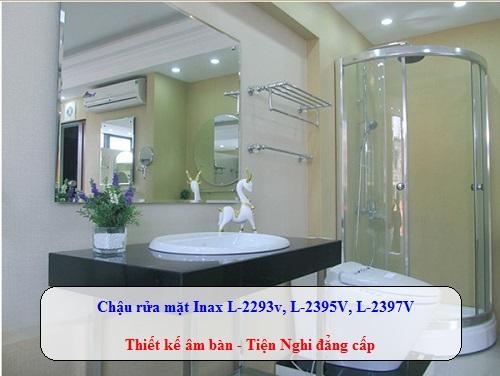 Chậu rửa mặt Inax L-2293V, L-2395V, L-2397V – Thiết kế âm bàn tiện nghi