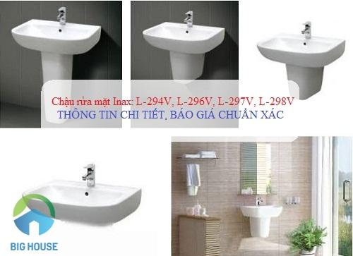 Điểm danh 4 Chậu rửa mặt Inax L-294V, L-296V, L-297V, L-298V HOT nhất