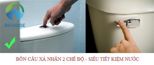 Tổng hợp Mẫu Bồn cầu xả 2 chế độ – SIÊU TIẾT KIỆM nước cho các gia đình