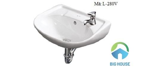 Chậu rửa mặt treo tường Inax L280V