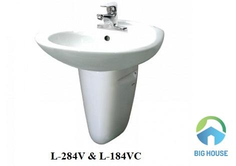 Chậu rửa mặt treo tường Inax L-284V và L-284VC