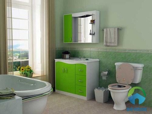Chậu rửa mặt đặt bàn rất thích hợp cho nhà vệ sinh rộng