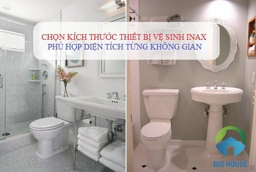 Kích thước thiết bị vệ sinh Inax phù hợp sử dụng với nhà vệ sinh nào?