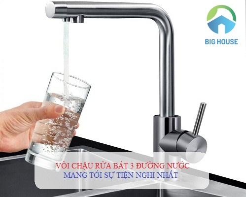 ƯU ĐIỂM vượt trội Vòi rửa bát 3 đường cấp nước trong cuộc sống hiện đại