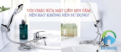 vòi chậu rửa mặt liền sen