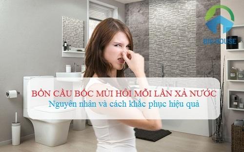 Lý do khiến bồn cầu bốc mùi hôi mỗi lần xả và Cách xử lý hiệu quả nhất