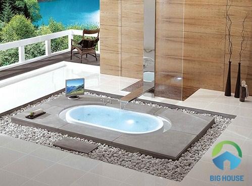 bồn tắm xây không chân yếm