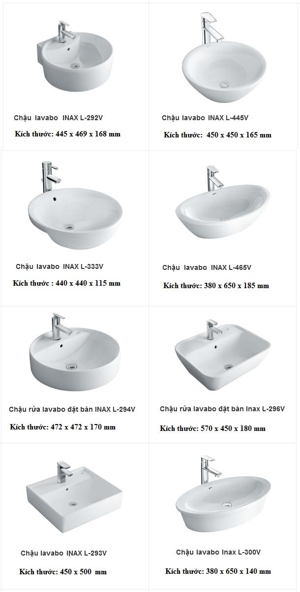 Kích thước lavabo Inax đặt bàn