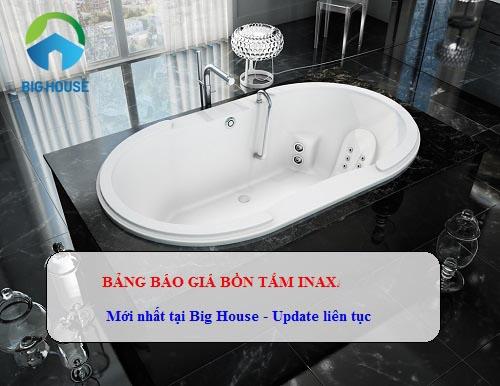 Giá bồn tắm nằm bao nhiêu tiền? Bảng báo giá bồn tắm Inax 2019