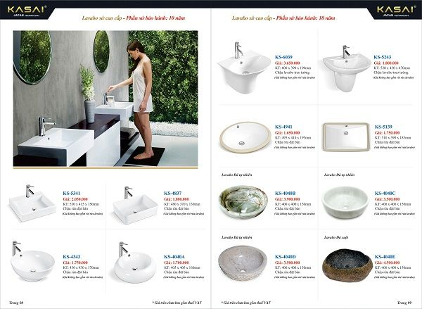 Catalogue thiết bị vệ sinh Inax