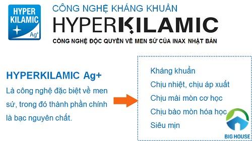 Công nghệ kháng khuẩn HyperKilamic của sứ vệ sinh Inax là gì?