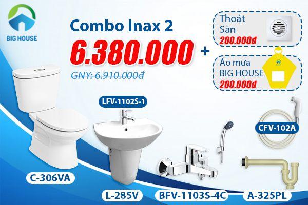Giá combo thiết bị vệ sinh inax trọn gói siêu rẻ