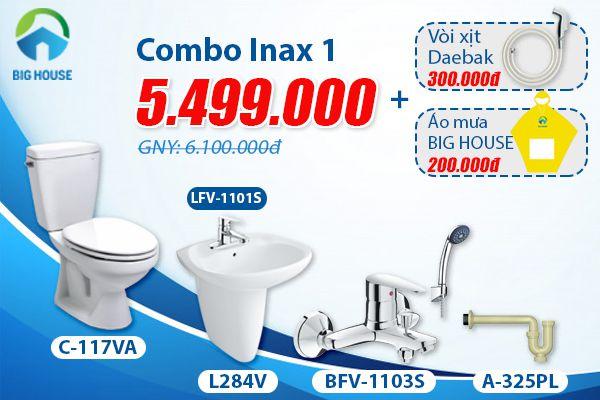 Giá combo thiết bị vệ sinh inax chất lượng