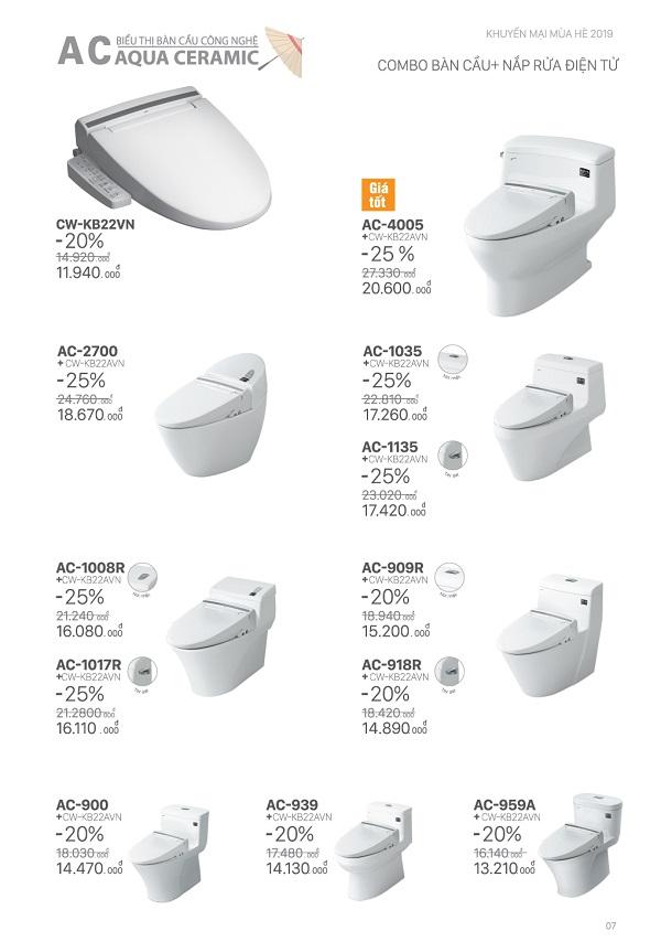 thiết bị vệ sinh inax tưng bừng khuyến mãi hè 2019 6