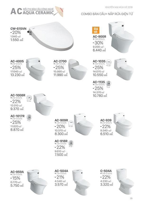 thiết bị vệ sinh inax tưng bừng khuyến mãi hè 2019 8