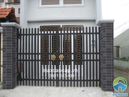 gạch inax ốp cổng đẹp mắt