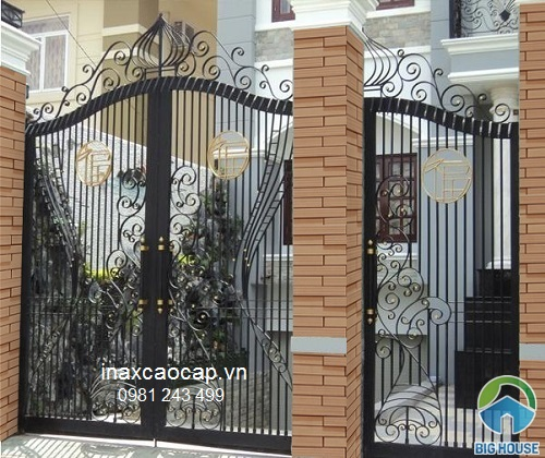 gạch inax ốp cổng sang trọng nhất