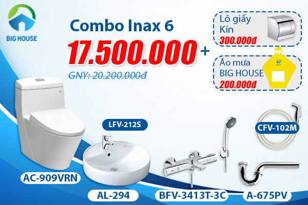 khuyến mãi combo thiết bị vệ sinh Inax 6