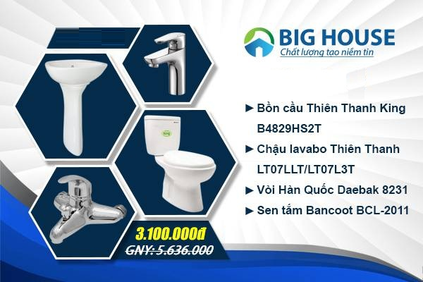 trọn bộ thiết bị vệ sinh phòng tắm