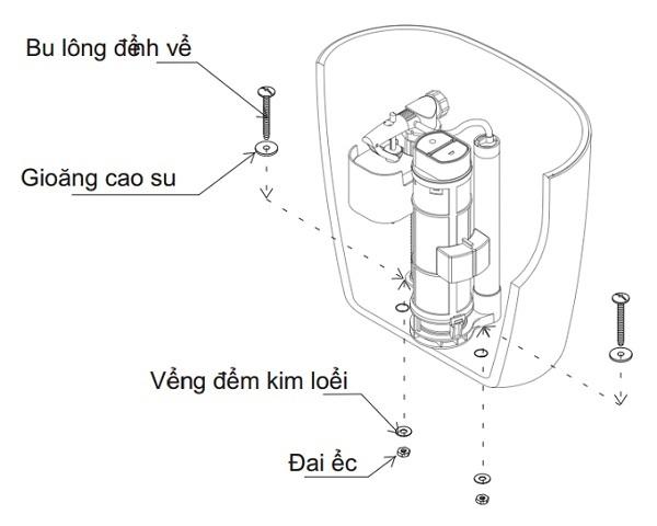 lắp phụ kiện bồn cầu inax 306