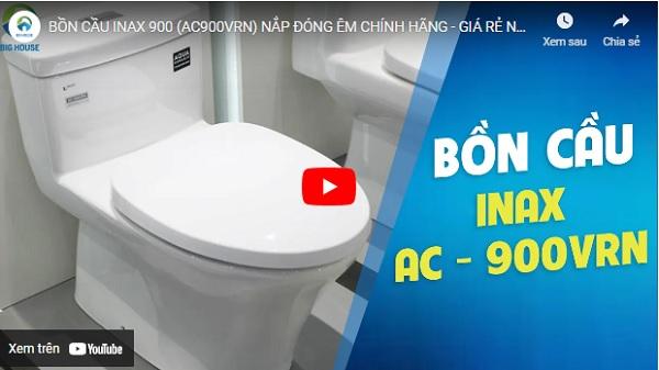 Video thực tế bồn cầu Inax AC-900VRN