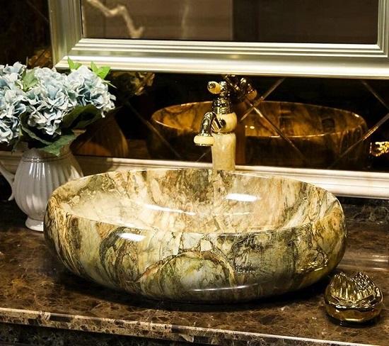 chậu lavabo bằng đá nhân tạo