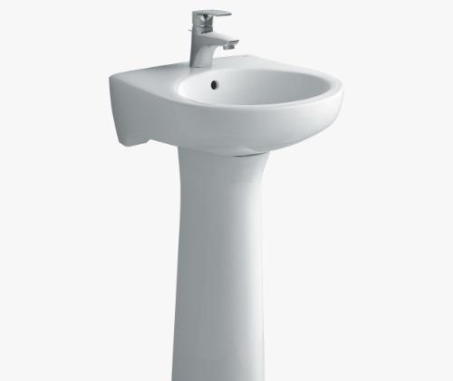 Mẫu chậu lavabo rửa mặt sứ Inax L-282
