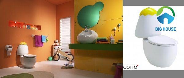 Bồn cầu Cotto C15017Y có kích thước dành riêng cho trẻ em