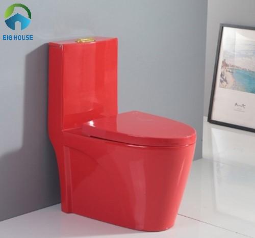 bồn cầu Miken MKB-8001R thiết kế toàn bộ đều là màu đỏ