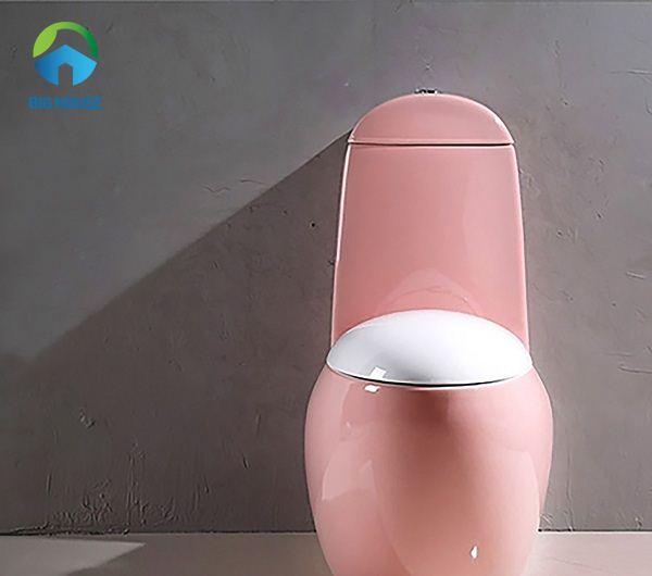 bồn cầu màu hồng BAT033 kiểu dáng vô cùng đẹp mắt